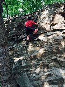 Rock Climbing Photo: The boy west side of Cub Scout.  He took to the ro...