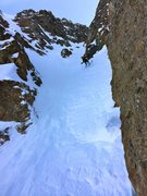 Rock Climbing Photo: Dr. Sam Inouye enjoying jump turns through the cru...
