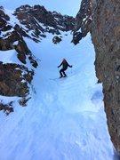 Rock Climbing Photo: Dr. Inouye's last couple jump turns before climbin...