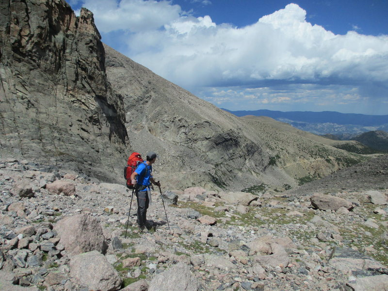 descending from flying buttress