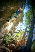 Rock Climbing Photo: Lead belaying at the Havens