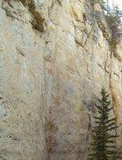 Rock Climbing Photo: Adam going right into R2-DEZ-NUTZ, the 5.11c varia...