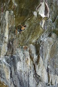 Rock Climbing Photo: Leaving Flying Monkeys into the roof - climber, Al...