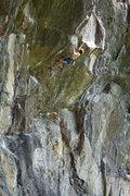 Rock Climbing Photo: Gaining the pinch - climber, Alex C.