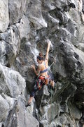 Rock Climbing Photo: The right beta - backstep the left and reach the l...