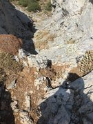 Rock Climbing Photo: Don't miss this gully!!! It's slightly hidden but ...