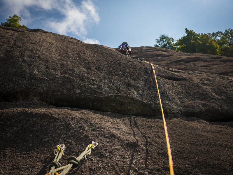 Rock Climbing Photo: P3 - Enigma.  We continued up face and then right ...