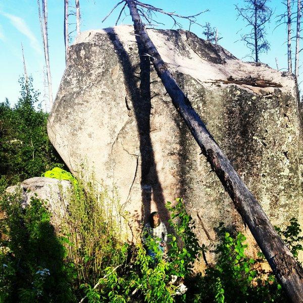 West face of boulder