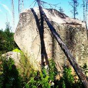 Rock Climbing Photo: West face of boulder