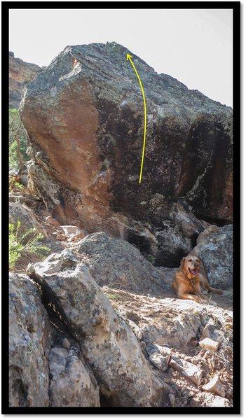 Rock Climbing Photo: Beefy problem beta.