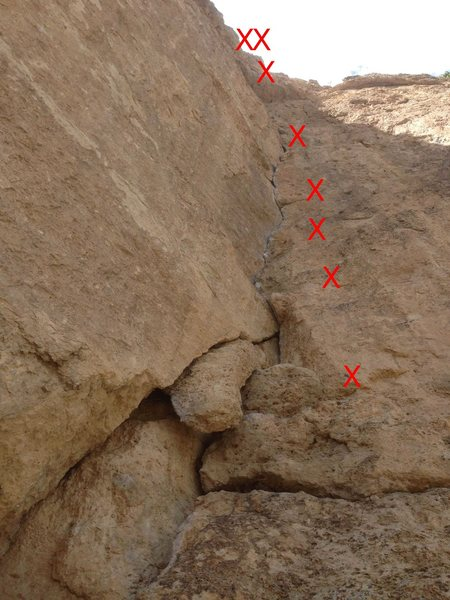 Rock Climbing Photo: Beta for More Funky than Gunky. Anchor is blocked ...