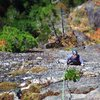 Tony climbing Starfish 5.9, Blues Cliff