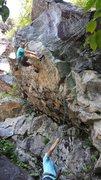 Rock Climbing Photo: DQ - Full Throttle, Triple Corners, Rumney, NH