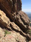 Rock Climbing Photo: South Side downclimb.