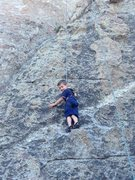 Rock Climbing Photo: The first two bolts' worth of this route (maybe 25...