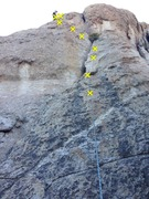 Rock Climbing Photo: Crux is between bolts 4 and 5 as you transition ac...