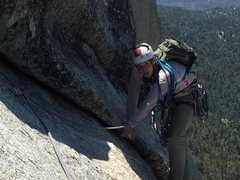 Rock Climbing Photo: almost to lunch ledge