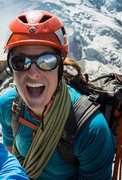 Rock Climbing Photo: After finishing Cosmiques Arete for the second tim...