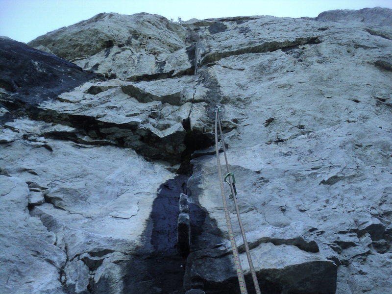 "Rock Climbing Photo: The often wet but rarely problematic ""fin&quo..."