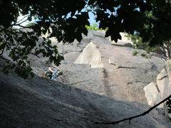 Rock Climbing Photo: Mid-way up