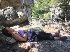 Rock Climbing Photo: newspaper ledge, good place for a snooze