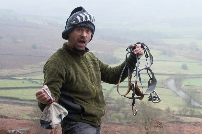 Rock Climbing Photo: Me in The Peak District, England.