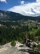 Rock Climbing Photo: Top of Napsack crack