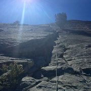 Rock Climbing Photo: My first multi pitch lead on Napsack crack