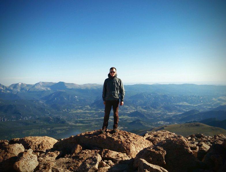 Rock Climbing Photo: long's peak