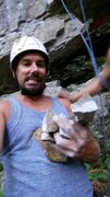 Rock Climbing Photo: A main hold broke off on me between the 1st and 2n...