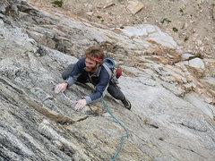 Rock Climbing Photo: Finishing the 1st P.