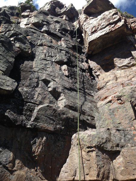 Rock Climbing Photo: Rope is the location of The Cooler. Slow Dance wit...