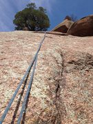 Rock Climbing Photo: The upper slab and the end of the crack.