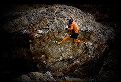 Rock Climbing Photo: Little Wing top-out crux.