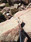 Rock Climbing Photo: Looking down Flakey.