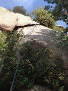 Rock Climbing Photo: Goofy variation.