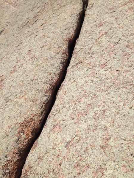 Rock Climbing Photo: Goofy crack.