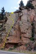 Rock Climbing Photo: Pee-wee's Pretty Pumped.