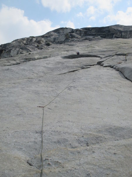 Rock Climbing Photo: Philip Matena at the top of Pitch 2. The rope depi...