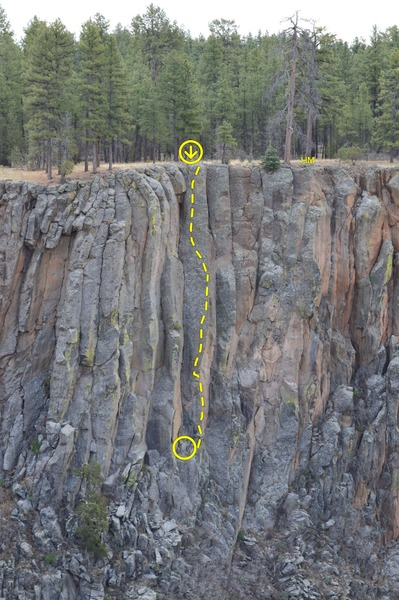 Rock Climbing Photo: The obvious arete and face in the center of the ph...