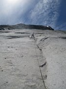 Rock Climbing Photo: Philip Matena leading pitch 2. The pitch ends at t...
