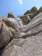 Rock Climbing Photo: Corner on last pitch.