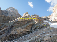 Rock Climbing Photo: The right rib with ledges visible 2/3 of the way u...