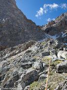 Rock Climbing Photo: Moving up the ridge. We encountered short class 5 ...