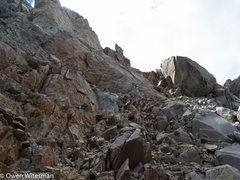 Rock Climbing Photo: We circumvented the small tower by going through t...