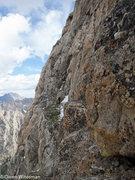 Rock Climbing Photo: The large grassy ledge.