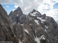 Rock Climbing Photo: Mt. Owen and the north face of the Grand from the ...