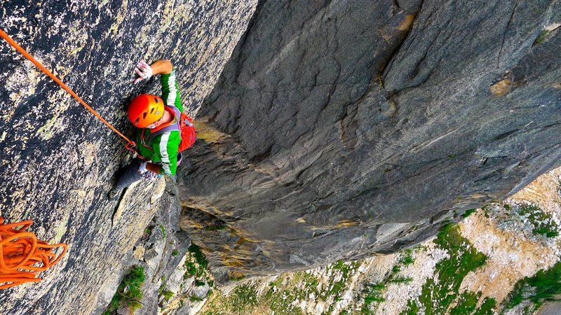 Rock Climbing Photo: Start on Chockstone route then head up left toward...