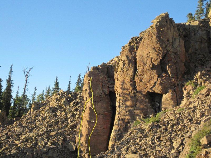 Rock Climbing Photo: Left rte. The Keener Right rte. Aibell