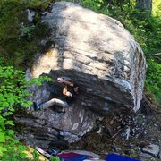 Pat topping out Get Lost. V5